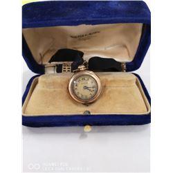 ANTIQUE 1850 MAURAN GOLD FILLED PENDANT WATCH.