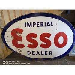"""1950'S IMPERIAL ESSO DEALER SIGN. 5FT TALL 92"""""""