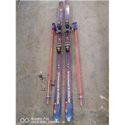 PAIR OF DYNASTAR MAX CUT RACING SKIS 190CM WITH