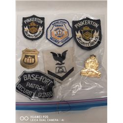 LOT OF VARIOUS LARGE BADGES AND PINS
