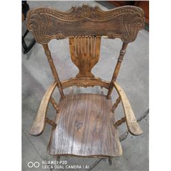 """ANTIQUE WOOD ROCKING CHAIR 39"""" TALL"""
