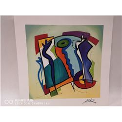 "SIGNED ALFRED GOCKEL 2006 BLUE ON BLUE 8"" X 8"""