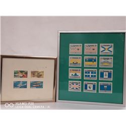 LOT OF 2 FRAMED CANADA STAMP SETS