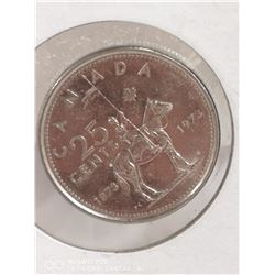 1973 CANADIAN 25 CENT COIN