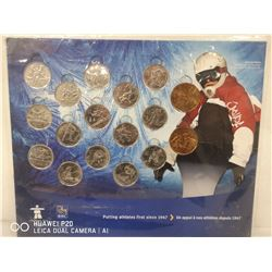 VANCOUVER 2010 WINTER GAMES 17 COIN COLLECTION