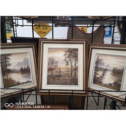LOT OF 3 SIGNED ROBERT D. MCLEAN OIL ON CANVAS
