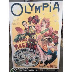 VINTAGE OLYMPIA LA DEMOISELLE DE MAGASIN PRINT O
