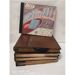 LOT OF 5 VINTAGE JAZZ RECORD BINDERS. INCL. FRANK