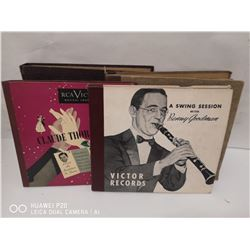 LOT OF 4 VINTAGE JAZZ RECORD BINDERS. INCL. DUDE