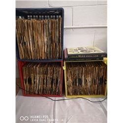 3 MILK CRATES FULL OF VINTAGE 78 RPM JAZZ RECORDS