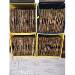4 MILK CRATES FULL OF VINTAGE 78 RPM JAZZ RECORDS