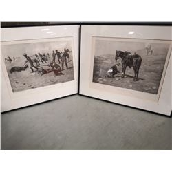 "LOT OF 2 CHARLES SCHREYVOGEL PRINTS. ""A FRIEND"