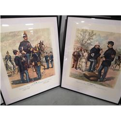 PAIR OF 1888 ENLISTED MEN PRINTS. BOTH MEASURING