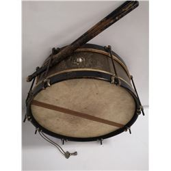 ANTIQUE 1835 SPANISH AMERICAN WAR DRUM WITH