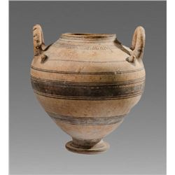 Large Ancient Daunian Ware Pottery Krater c.4th century BC.