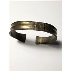 Silver Greek Geometric Period Bracelet with Meandros c. 800-650 BCE.