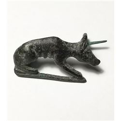 A Bronze Roman Fibula of a Dog c.1st - 2nd Cent. CE. Size 32 mm.