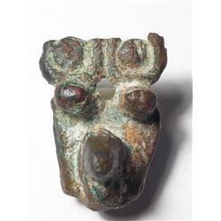 A Bronze Egyptian Applique of Uraei Late Dynastic Period. 664-332 BCE.
