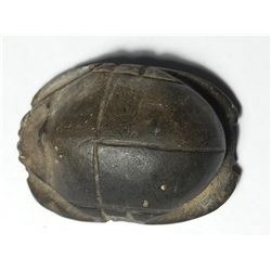 A Granite Egyptian Naturalistic Scarab Late Dynastic Period. 664-332 BCE.