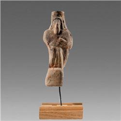 Ancient Parthian Terracotta Figure of Bearded Man c.6th century BC.