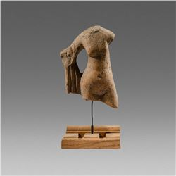 Ancient Greek Terracotta Torso of Aphrodite c.4th century BC.