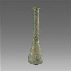 Ancient Roman Glass Unguentarium c.2nd century AD.