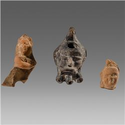 Lot of 3 Ancient Roman Alexandria figures fragments c.1st- 2nd century AD.