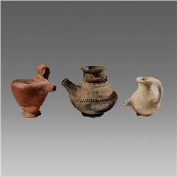Lot Of 3 Ancient Roman Baby Feeders ca.300 B.C.-300 A.D.
