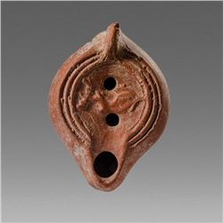 Ancient Roman North African Terracotta Oil Lamp c.5th century AD.