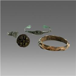 Lot of Ancient Roman Bracalets, Rings c.2nd cent AD.