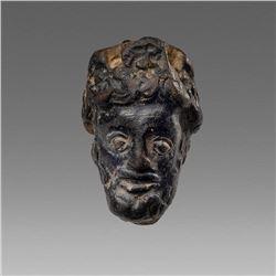 Ancient Greek Pottery head of Bearded Man c.4th cen BC. =