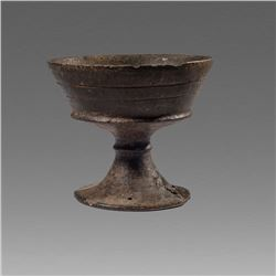 Ancient Etruscan bucchero chalice or kylix c.6th century BC.