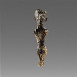 Ancient Holy Land Canaanite Bronze figure 2nd Millemnium BC.