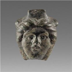 Ancient Greek Thrace Bronze Female head c.3rd cent BC.
