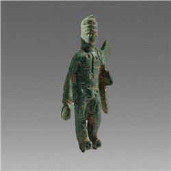 Ancient Roman Bronze figure of Mercury c.2nd-3rd cent AD.