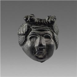 Ancient Roman Bronze head of Dionysos c.1st-3rd cent AD.