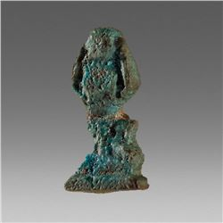 Ancient Egyptian Faience Sky-god Shu Amulet c.664-525 BC.