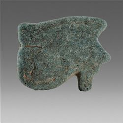 Ancient Egyptian Blue Faience Eye Of Horus c.664-525 BC.