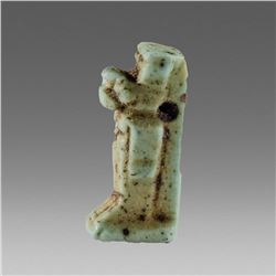 Ancient Egyptian Faience Amulet of Anubis c.500 BC.