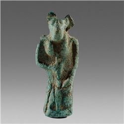 Ancient Egyptian Faience Jackal-headed Anubis Amulet c.664-525 BC.
