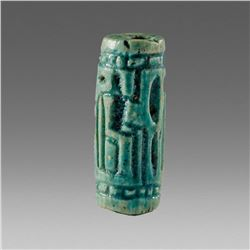 Ancient Egyptian Steatite Cylinder Seal Middle Kingdom 2040-1782 BC.