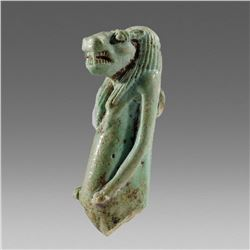 Ancient Egyptian Faience Amulet of Thoeris c.663-525 BC.