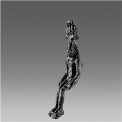 Ancient Egyptian Bronze Figure of Horus the Child c.700 BC.
