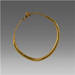 Ancient Roman Gold Loop Earring c.2nd cent AD.