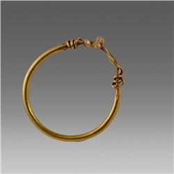 Ancient Roman Gold Earring with pearls c.2nd cent AD.