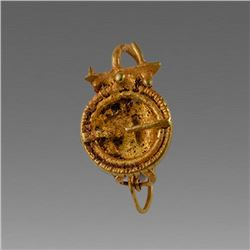 Ancient Roman Gold Earring c.2nd cent AD.