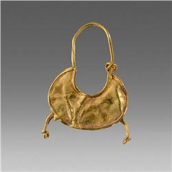 Ancient Greek Gold Earring c.4th cent BC.