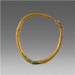 Ancient Roman Gilt Bronze Earring c.2nd cent AD.