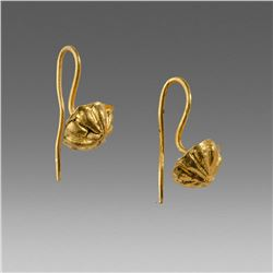 Ancient Roman Gold Earrings c.2nd cent AD.