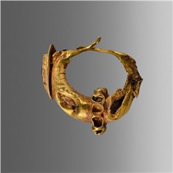 Ancient Roman Gold Earring with Garnet c.2nd cent AD.